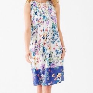 J Jill Sleeveless Floral Pleated Dress NWT 1351